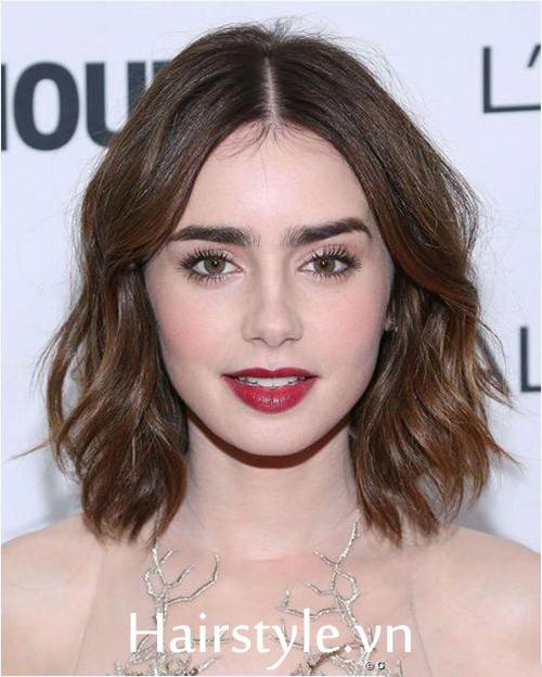 tóc ngắn xoăn nhẹ 21