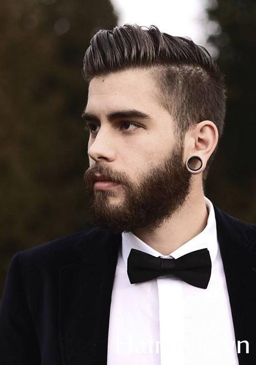Kiểu tóc nam cho mặt dài 25