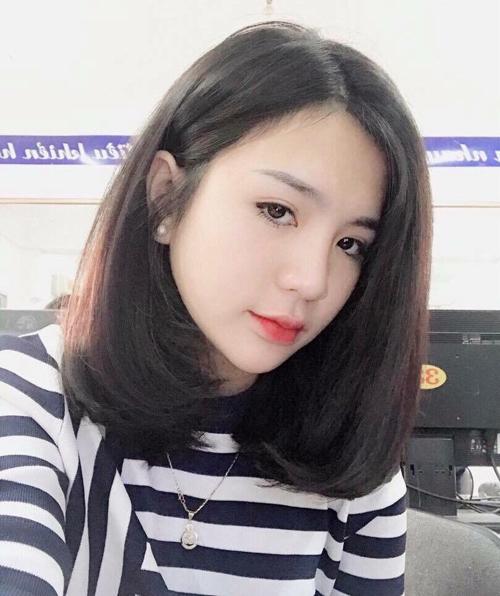 Kiểu tóc ngang vai cho mặt tròn đẹp 2
