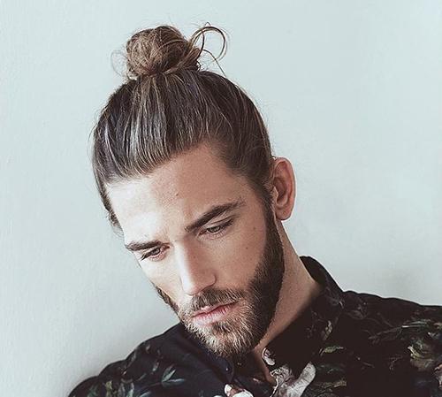 tóc nam dài cột