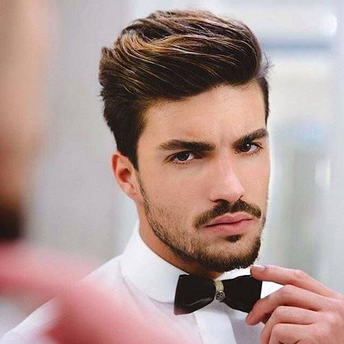 tóc nam dành cho mặt gầy