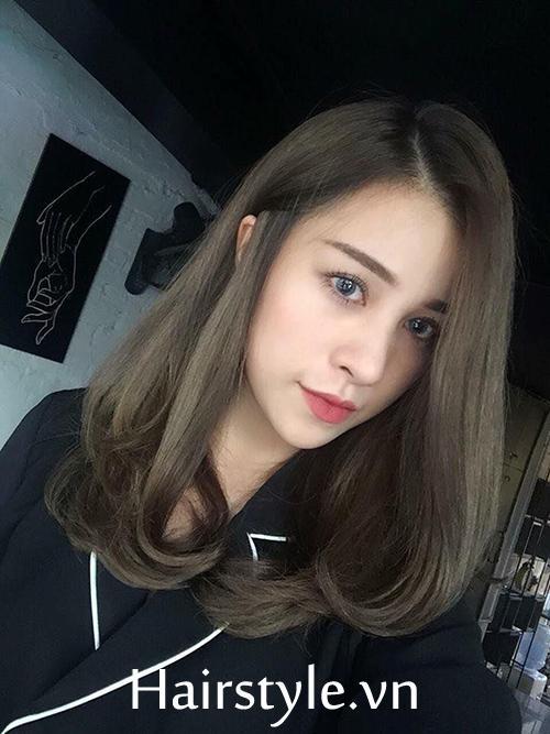 Kiểu tóc ngang vai cho mặt tròn đẹp 6