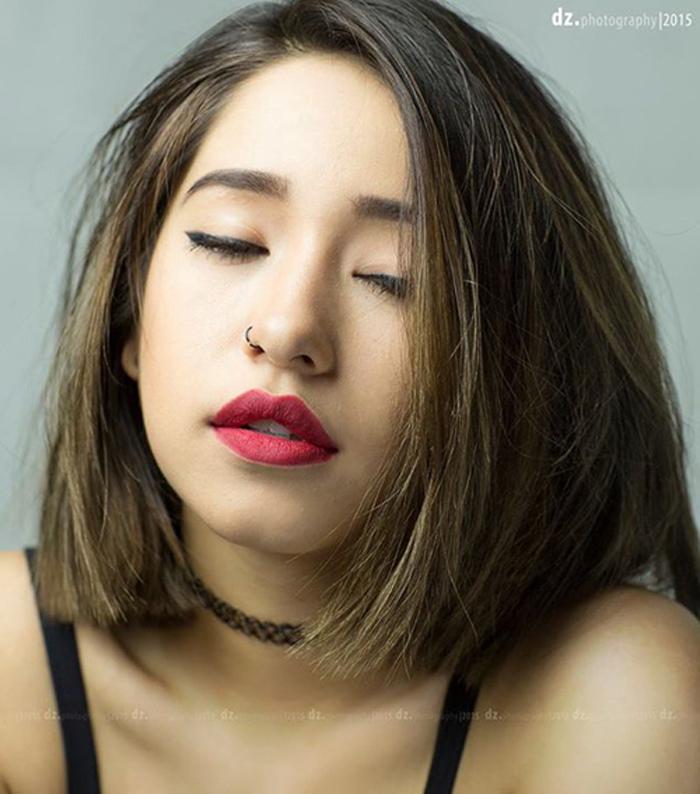 Kiểu tóc ngang vai cho mặt tròn đẹp