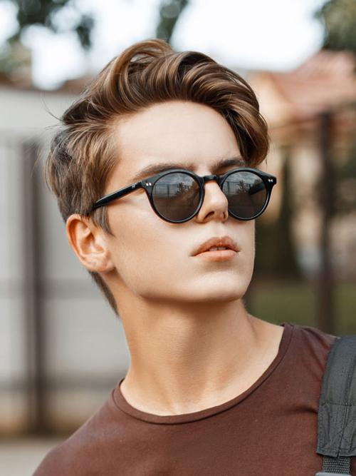 kiểu tóc nam cho mặt tròn 10