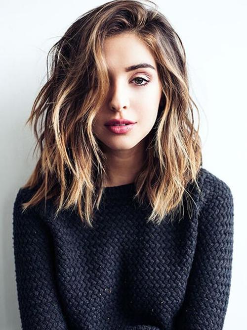 kiểu tóc ngang vai cho mặt dài 13
