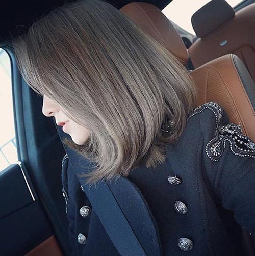 kiểu tóc ngang vai cho mặt dài 8